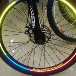 Naklejki fluorescencyjne do ram rowerowych - 6 kolorów