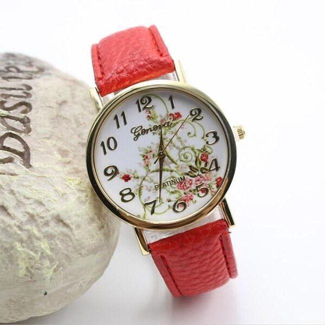 Çiçek motifli zarif kol saati 1