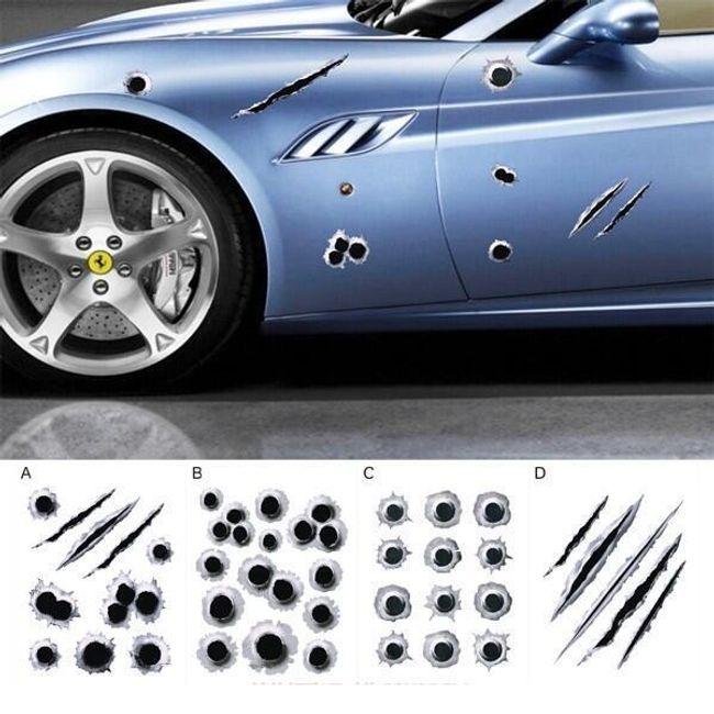 3D nalepka za avto v obliki lukenj 1