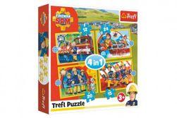 Puzzle 4v1 Ochotný Požiarnik Sam 28,5x20,5cm v krabici RM_89034373