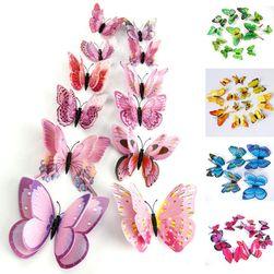 Комплект 12 различни пеперуди - 5 цвята