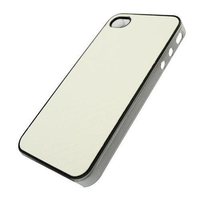 Plastový ochranný kryt na iPhone 4 a 4S - bílý designový 1
