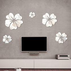Настенная наклейка- Зеркальные цветы