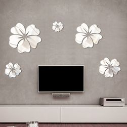 Nalepnica za steno - cvetovi z učinkom ogledala