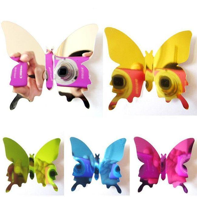 Samolepka na zeď zrcadlová - motýlci 1