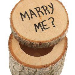 Cutie pentru inel de logodnă - din lemn