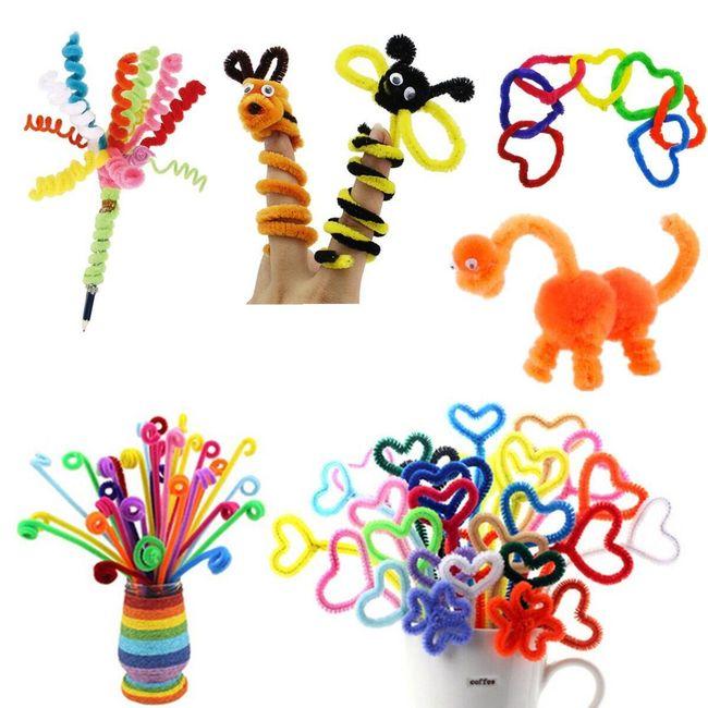 Гибкая плюшевая проволока для изготовления игрушек или декораций 1