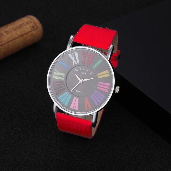 Dámské hodinky s barevnými číslicemi 1
