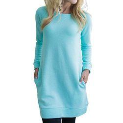 Sukienka dresowa w jasnych kolorach
