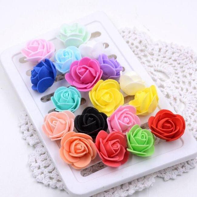 Penaste vrtnice za dekoracijo v različnih barvah - 50 kosov 1
