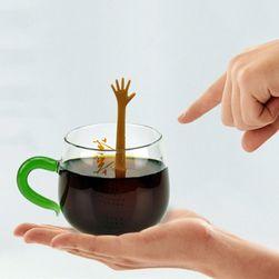 Śmieszne silikonowe sitko do herbaty z ręką - 5 wariantów