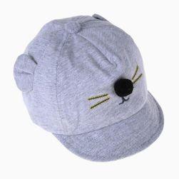 Детска шапка с муцуна и помпон