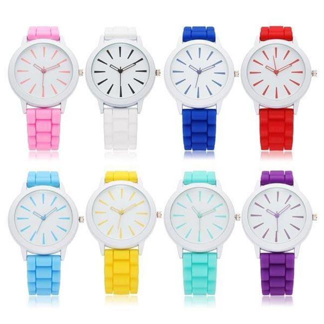 Unisex silikonowy zegarek Geneva - 8 kolorów 1
