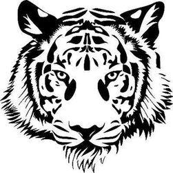 Nalepka za avto - tigrova glava
