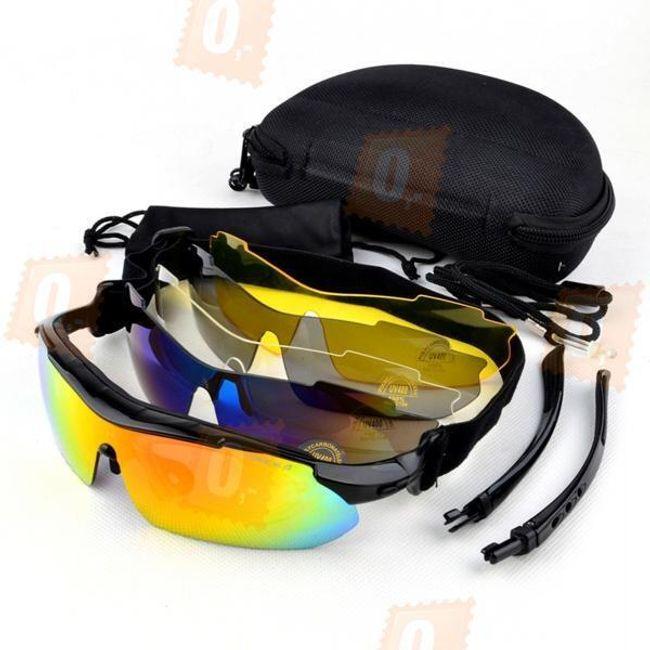 Sada sportovních brýlí s 5 výměnnými skly a dalším příslušenstvím 1