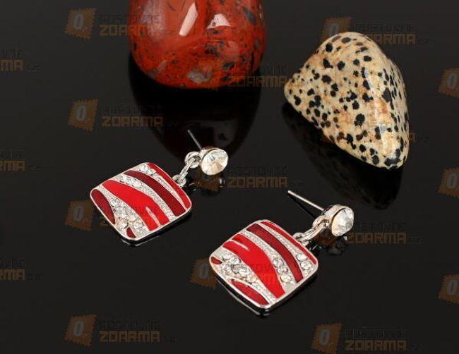 Zománcozott fülbevalók kövekkel 1
