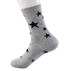 Vysoké ponožky s hvězdičkami - různé barvy
