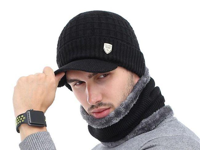 Erkek kışlık şapka Karel 1