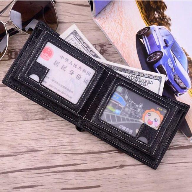 Férfi pénztárca PU bőrből - 3 változat