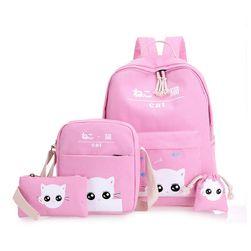 Zestaw plecaka, torebki, portfela i torby