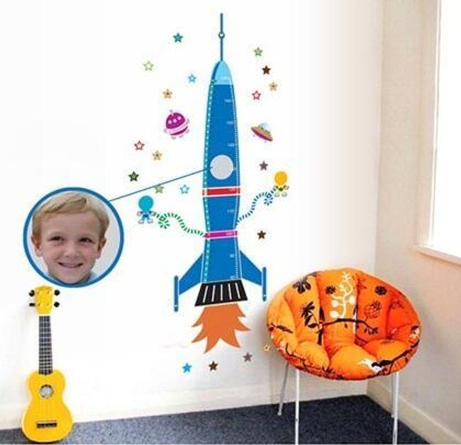 Samolepka na zeď - raketa 1