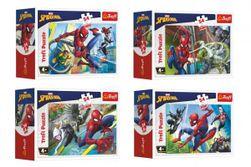 Minipuzzle 54 dílků Spidermanův čas 4 druhy v krabičce 9x6,5x4cm 40ks v boxu RM_89154164