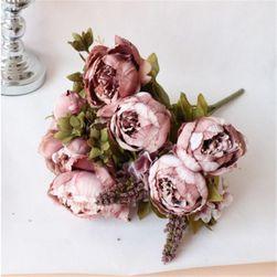 Bukiet sztucznych kwiatów - Piwonie