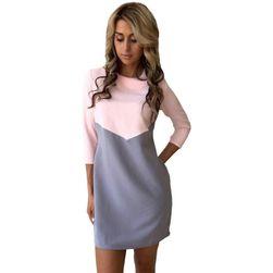 Dámské šaty s tříčtvrtečním rukávem v elegantním designu