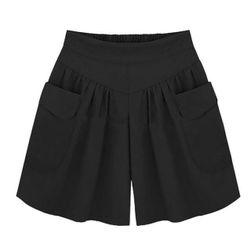 Pantaloni scurți cu talie înaltă în plus size - 4 culori