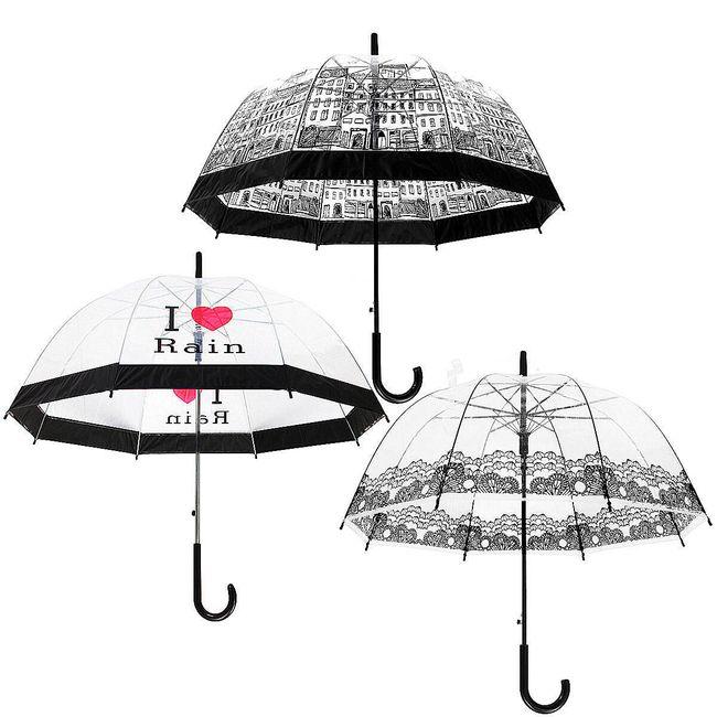 Элегантный прозрачный зонт- 3 варианта 1