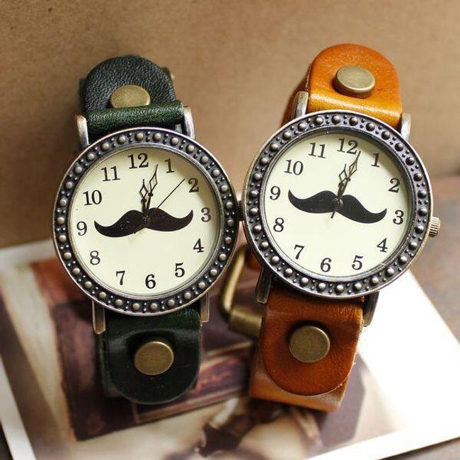 Retro hodinky s motivem knírku 1
