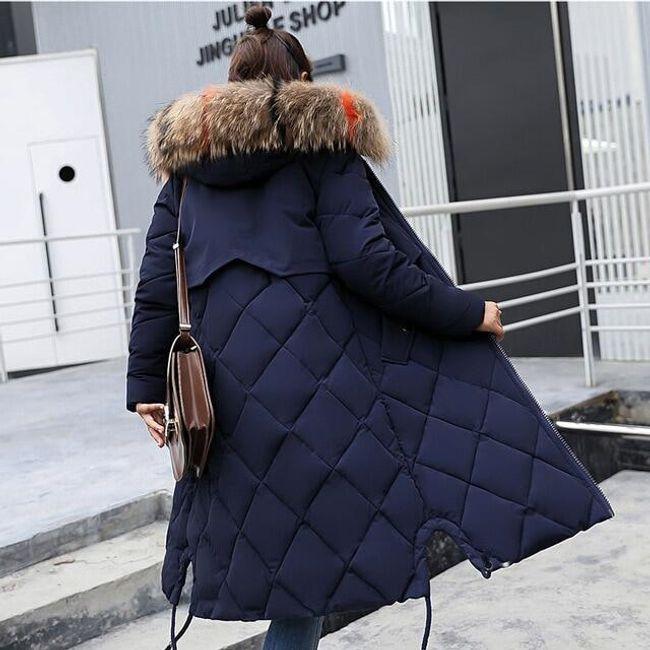 Dámský zimní kabát Angelica - Námořní modř-XL 1