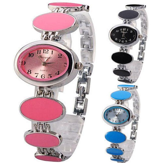 Dámské náramkové hodinky s oválky - ve 3 barvách 1