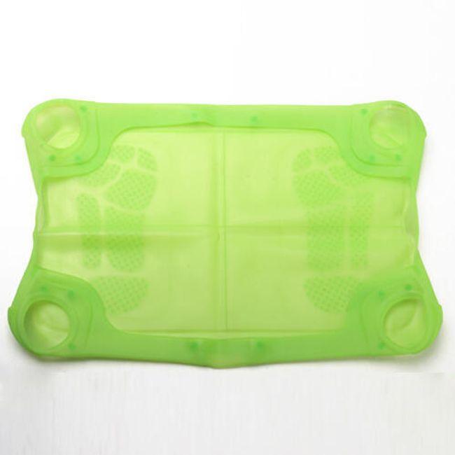 Zelený silikonový obal na balanční podložku NINTENDO Wii Fit  1