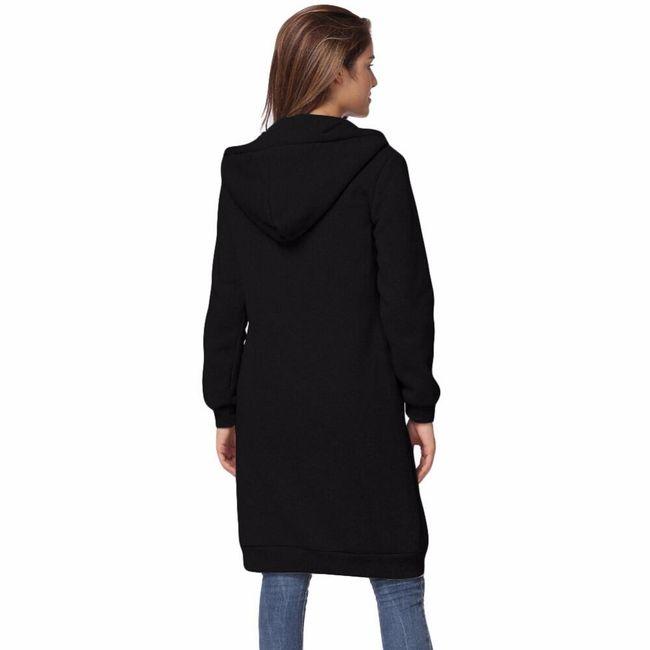 Hosszú pulóver  sötét színben - 8 méret