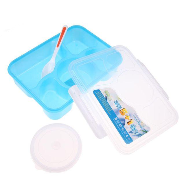 Plastový box na jídlo dělený na 5 dílů 1