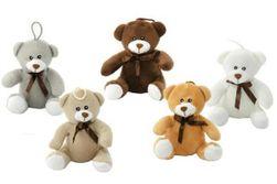 Medvěd s mašlí plyš 14cm asst 5 barev 0m+ RM_56780197