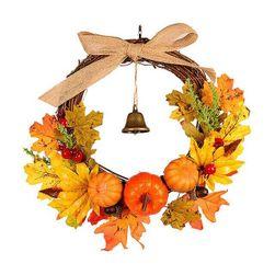 Jesienny wieniec na drzwi Pumpkin
