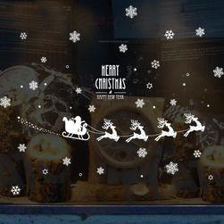 Karácsonyi matrica az ablakon Eleka
