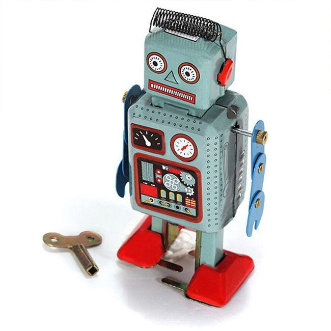 Zabawka mechaniczna na kluczyk - robot 1
