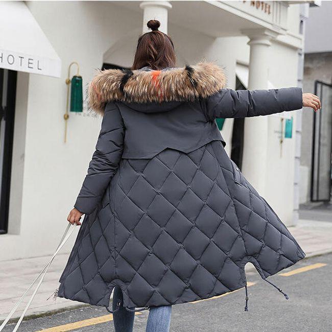 Dámský zimní kabát Angelica - Šedá-XL 1