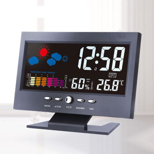 Renkli ekranlı hava durumu istasyonu 1