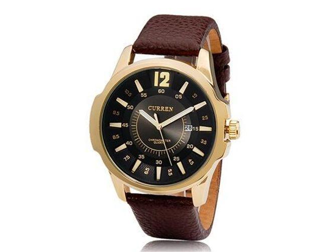Pánské hodinky Curren v hnědo-zlaté barvě 1