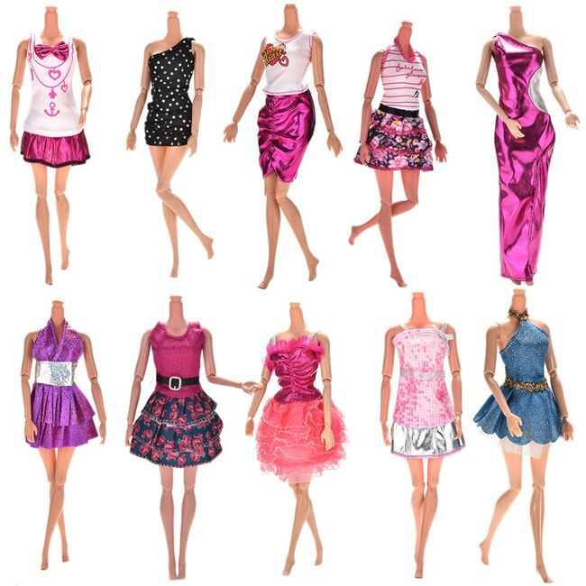 Šaty pro panenku - 10 kusů 1
