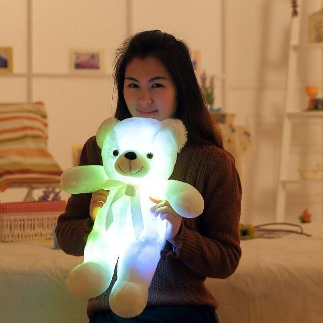 Plišan LED medved, ki sveti v temi - 50 cm 1