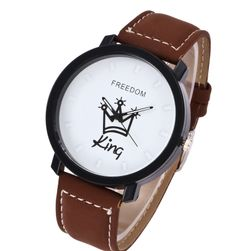 Ceas de mână cu inscripție - variante KING sau QUEEN