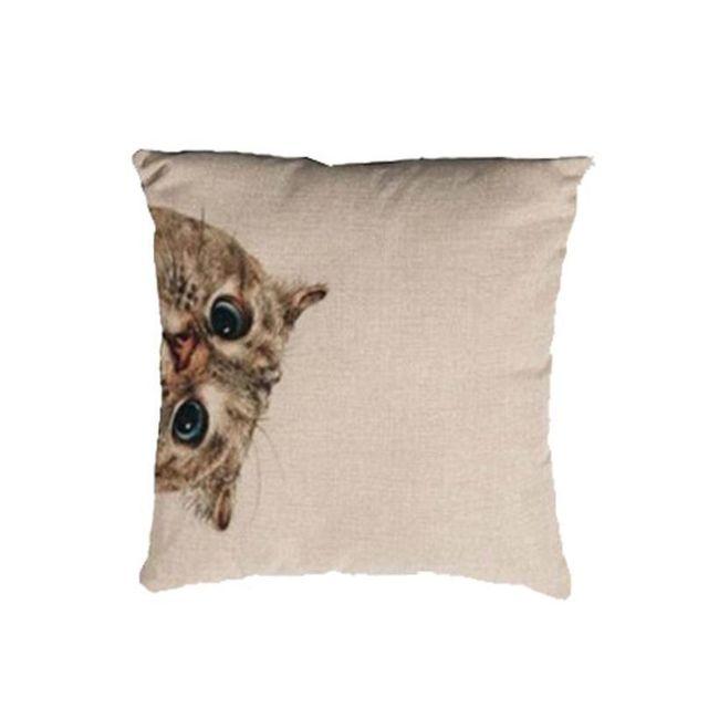 Povlak na polštář s kočkou 1