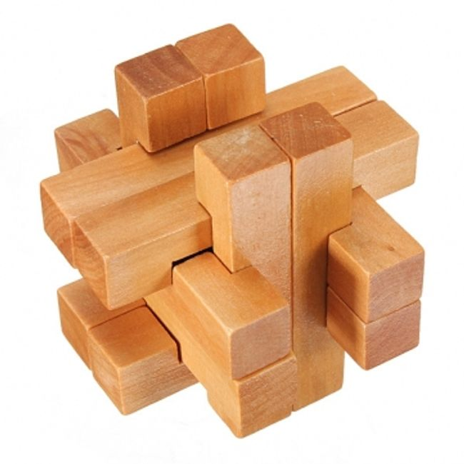 Drewniana łamigłówka 3D dla dzieci - drewniane puzzle 1