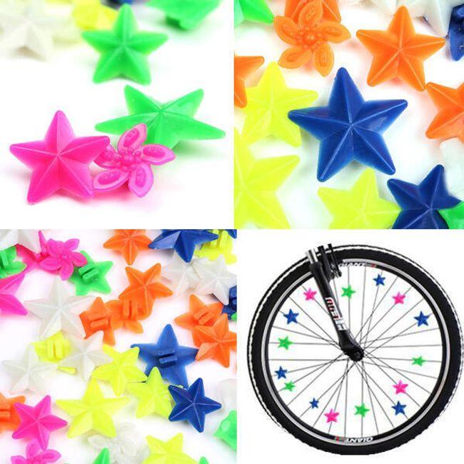 Свето-отражательные элементы декора для колес велосипеда 1