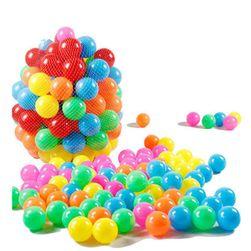 Zestaw 10 kolorowych kulek plastikowych